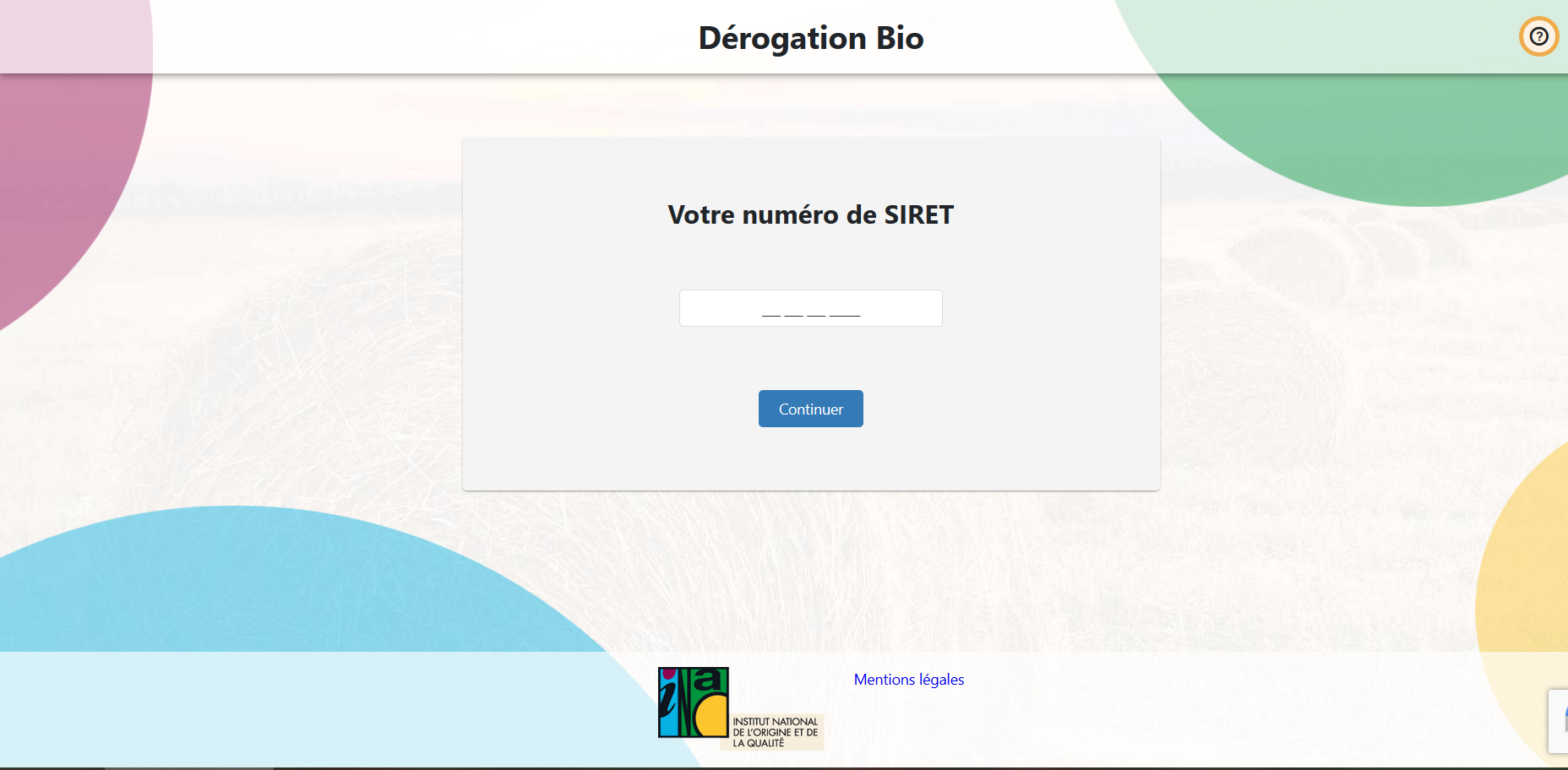 dérogation en ligne agriculture biologique